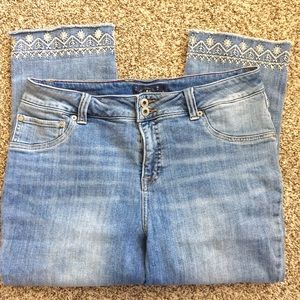 Lucky Brand Emma Crop Jeans Size 14W